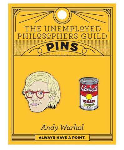 Unemployed Philosopher's Warhol & Soup Can Enamel Pin