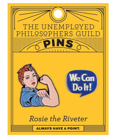 Unemployed Philosopher's Rosie & We Can Do it Enamel Pin