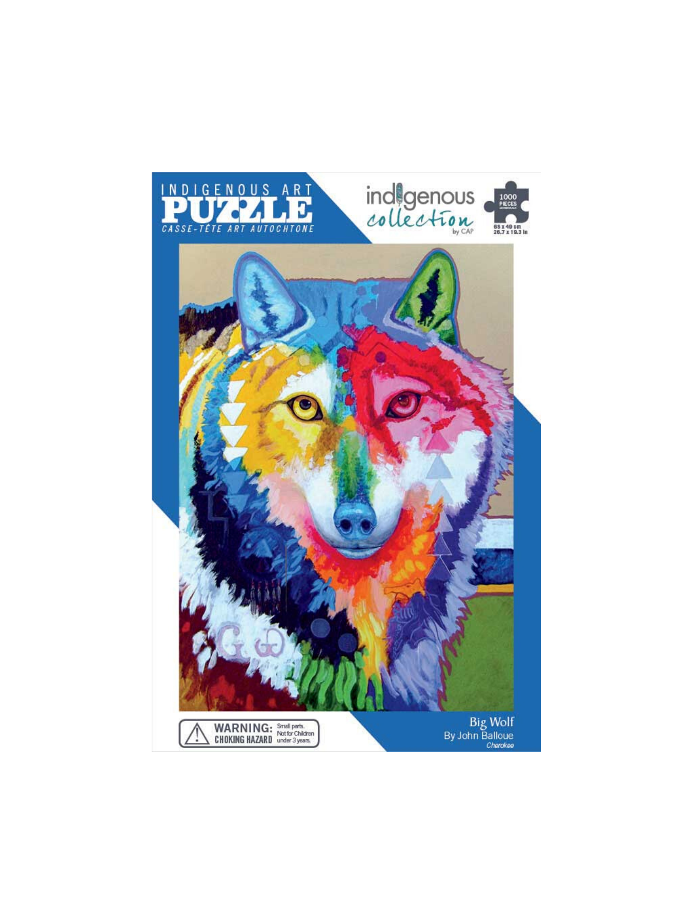 Indigenous Collections Big Wolf Puzzle