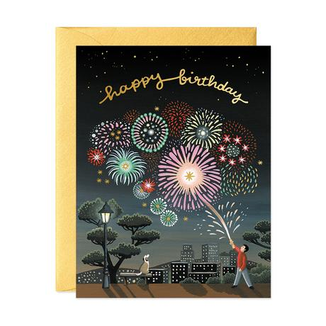 JooJoo Fireworks Birthday Greeting Card