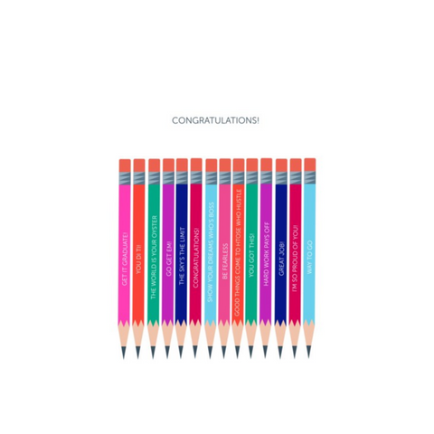 Graduation Card Pencils by Designs by Maria