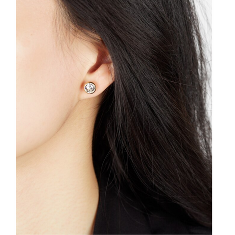 jj+rr Swarovski Crystal Earrings in Gold