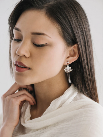 Lover's Tempo Allegro Fan Drop Earrings