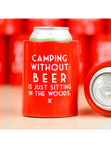 Meriwether Koozie Camping Without Beer