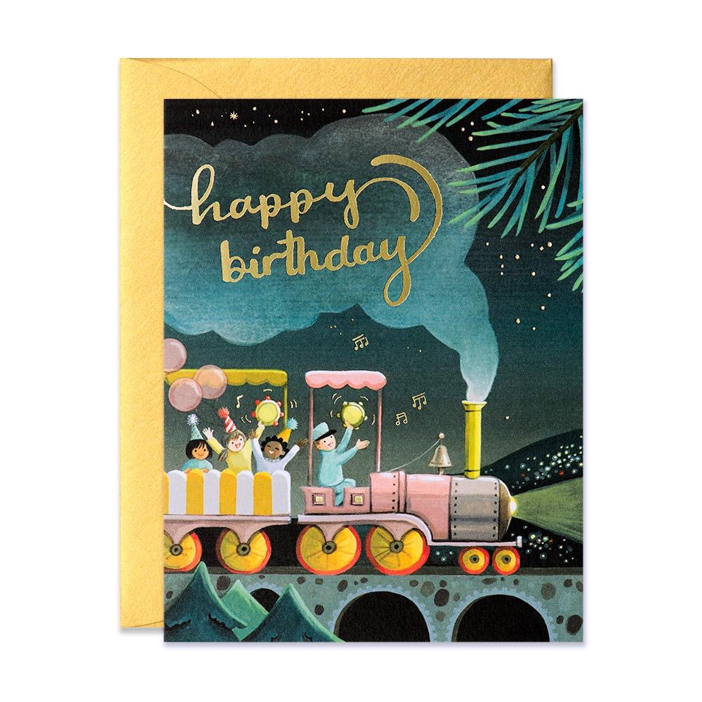 JooJoo Train Birthday Greeting Card