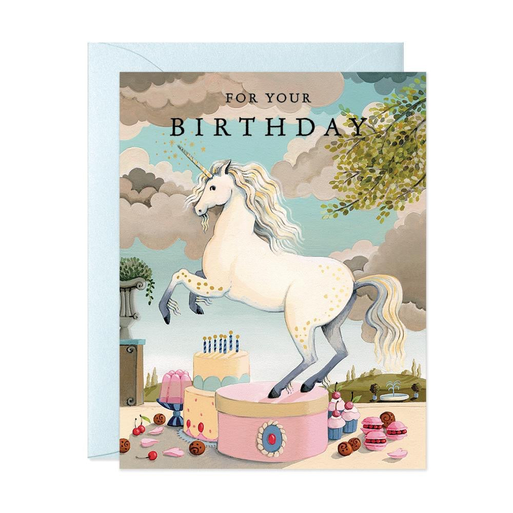 JooJoo Unicorn Birthday Greeting Card