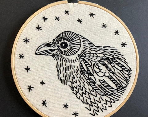 Hook Line and Tinker Nevermore Embroidery Kit