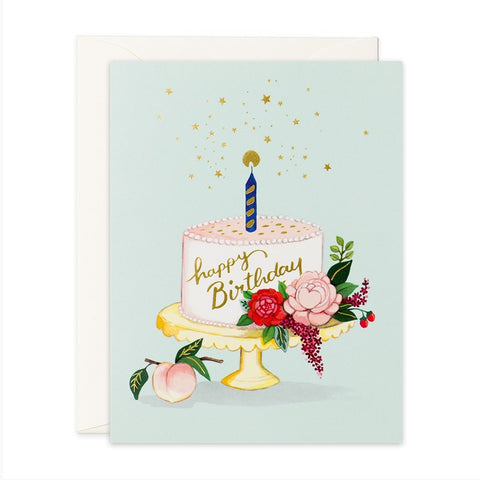 JooJoo Peach Cake Birthday Greeting Card