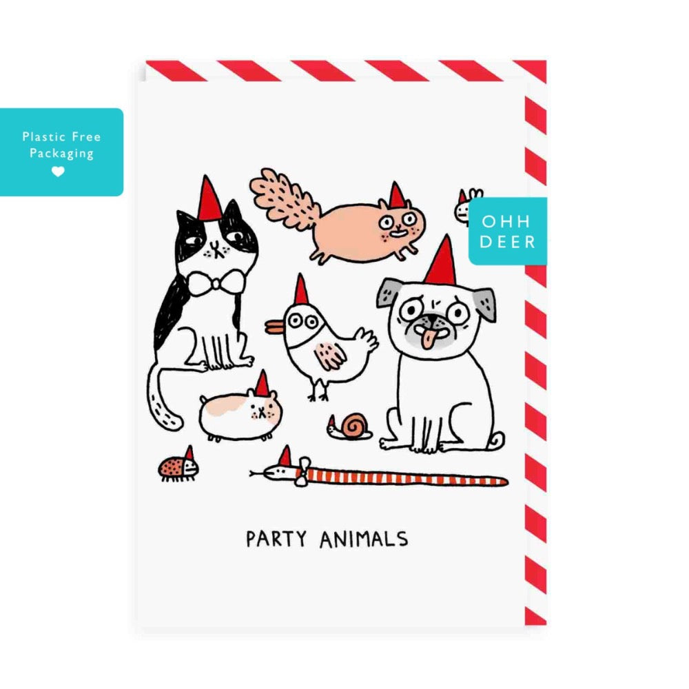 Ohh Deer Party Animals Greeting Card