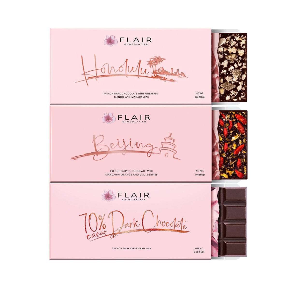 French Dark Chocolate, 3-Set