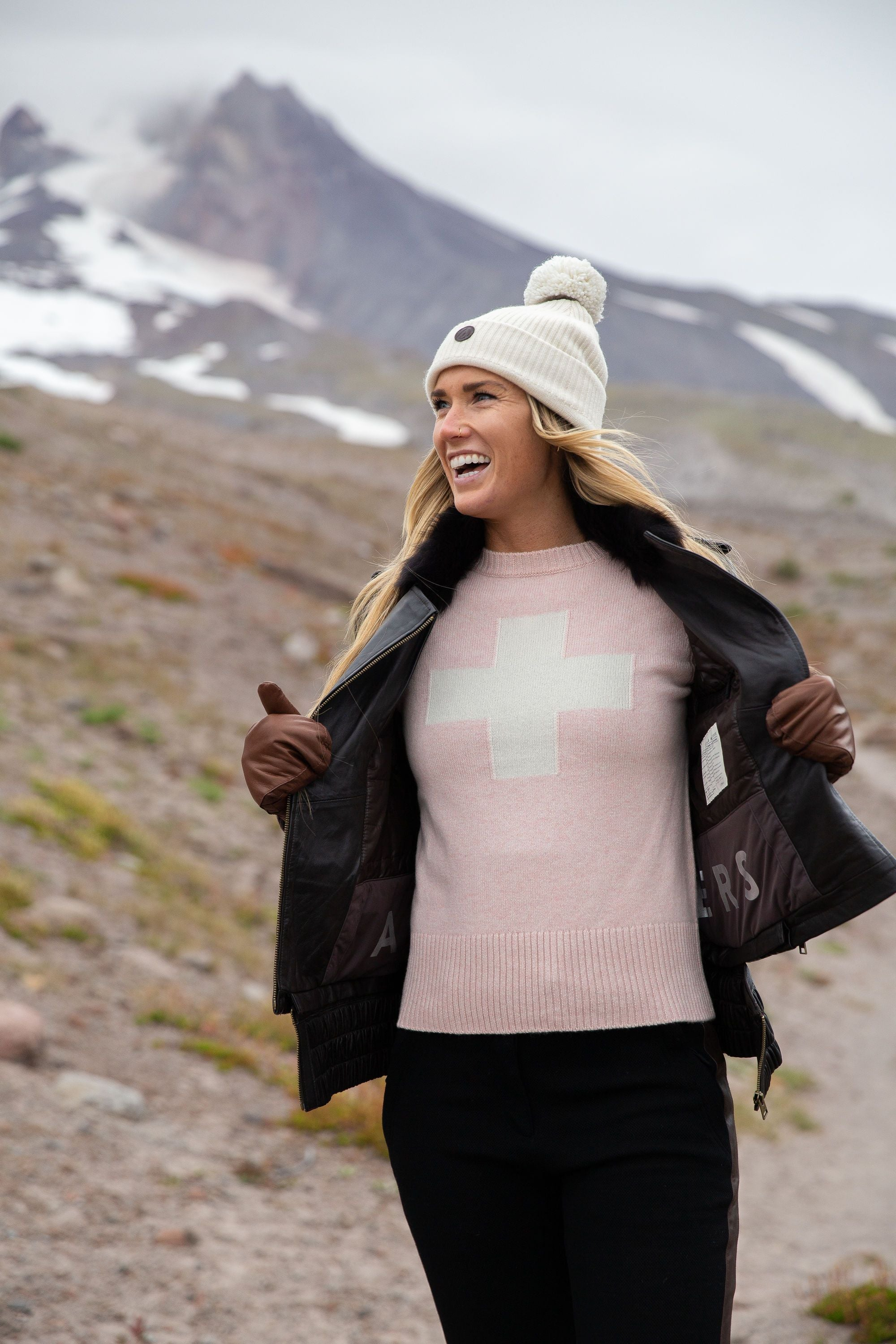 Women's Cashmere Ski Race Knit Patrol-Alps&Meters