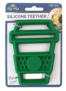 Silicone Baby Teether - Latte