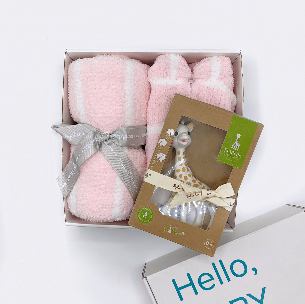 Cozy Chenille Box Set - Pink Stripe