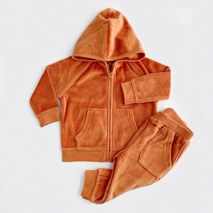 Velour Tracksuit Gift Box Set - Rust