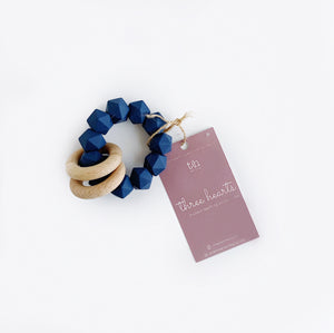 Navy Silicone Teether