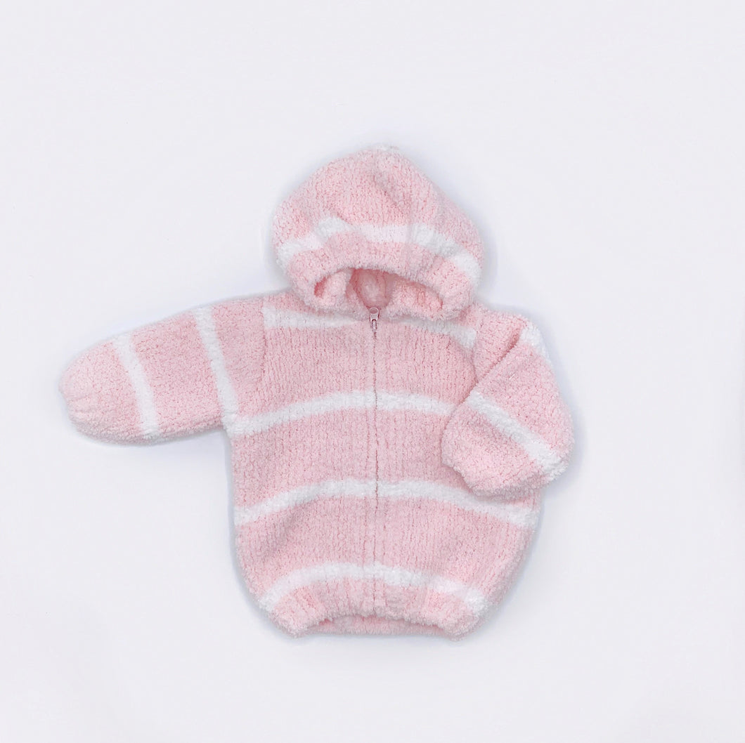 Chenille Hooded Jacket - Pink