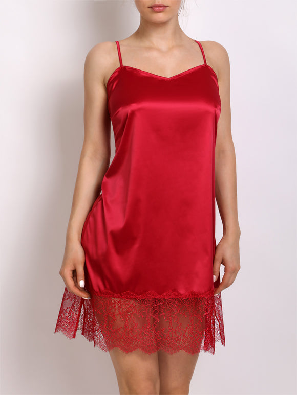 Luxury Night Dress 436-000 Red