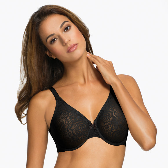 Wacoal Black Halo Lace Underwire Bra 851205