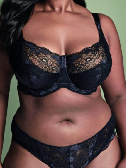 Panache Plus Size Clara Full Cup Bra 7255 Black