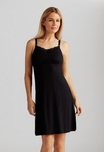 Amoena Glam Nightdress - Black 44294