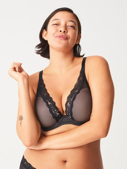 Passionata By Chantelle Plunge T Shirt Bra 5701 Black