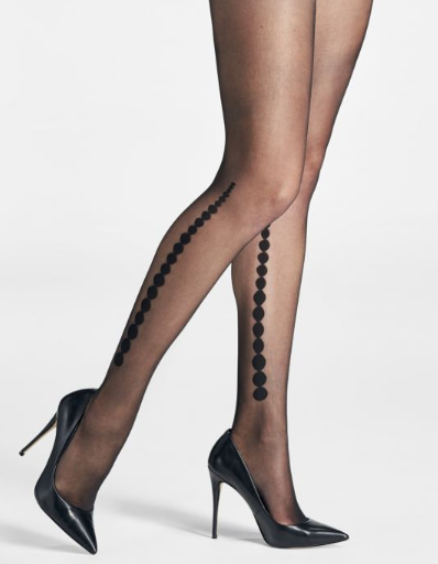 Mondor Tights Gradients Dot Motif On Side Sheer Effect 15 Denier 5751