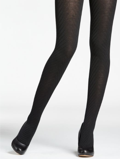 Mondor Tights Merino Wool Herringbone Pattern 5389