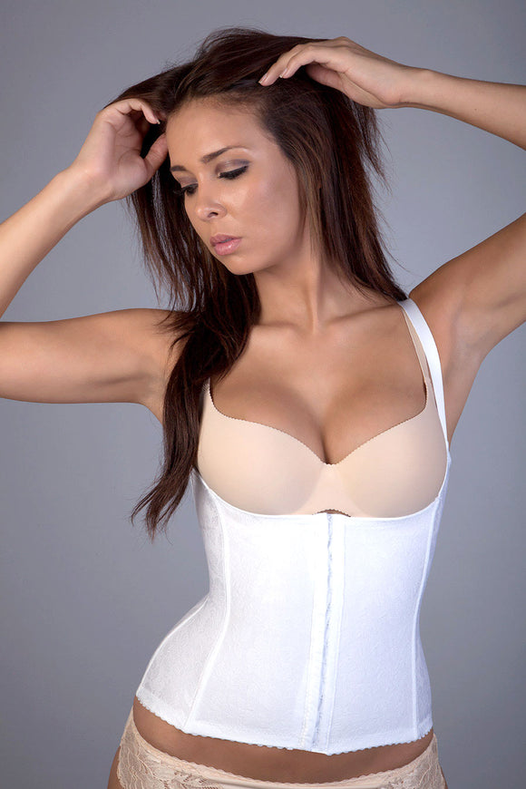JSL Corset Top Tummy and Back Firm Control With Hooks On Front Jacquard Fabrique 410-518