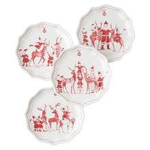 Load image into Gallery viewer, Country Estate Reindeer Games Tidbit Plates Set (4)