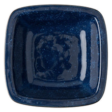 "Load image into Gallery viewer, Puro Dappled Cobalt 10.5"" Rounded Square Serving Bowl"