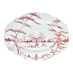 "Country Estate Winter Frolic 18.5"" Serving Platter"