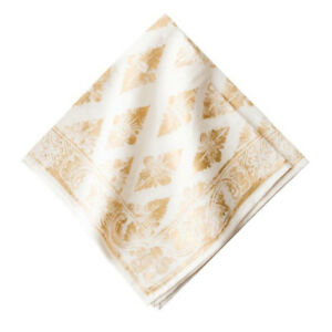 Florentine Gypsy Napkin Gold/White Set (4)