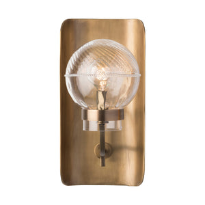 Graham Globe on Lisbon Sconce in Brass