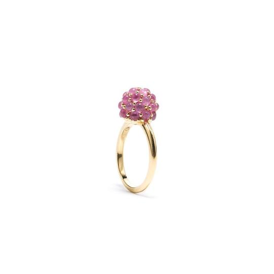Raspberry Ring: Ruby Size 8