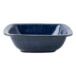 "Puro Dappled Cobalt 10.5"" Rounded Square Serving Bowl"
