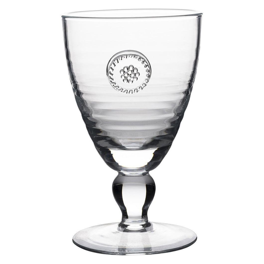 Berry & Thread Footed Glass Goblet Set (4)