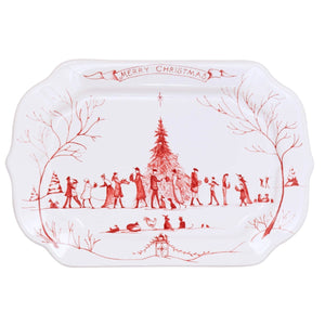 Country Estate Winter Frolic Gift Tray: Merry Christmas