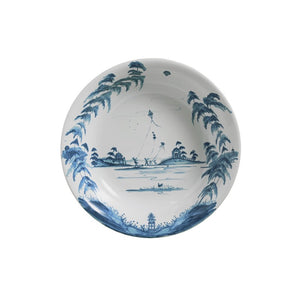 "Country Estate Delft Blue 13"" Serving Bowl Kite Fliers"