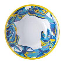 Load image into Gallery viewer, Blue Rose Melamine Serving Bowl
