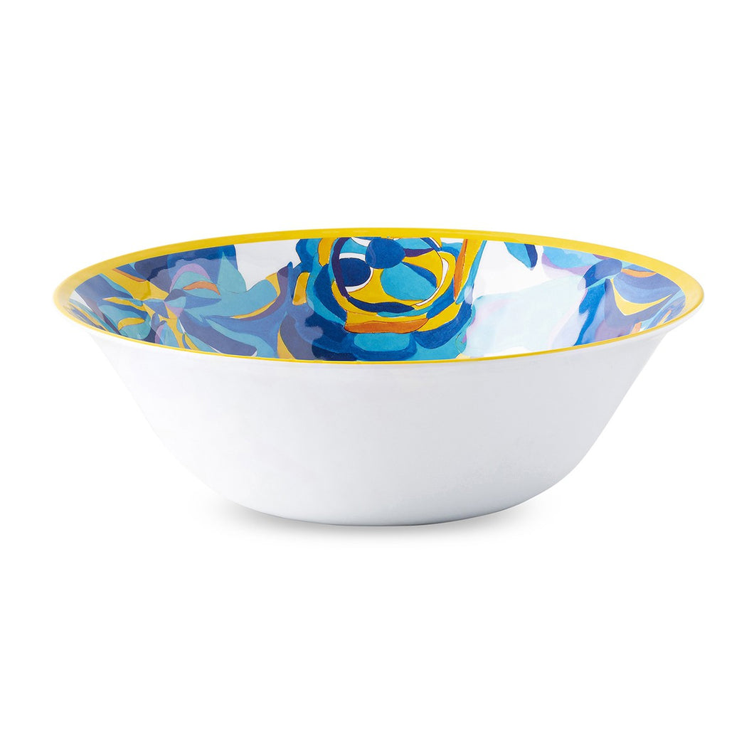 Blue Rose Melamine Serving Bowl
