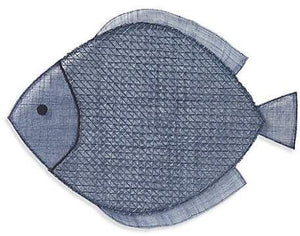 Fish Navy Blue Placemat Set (4)