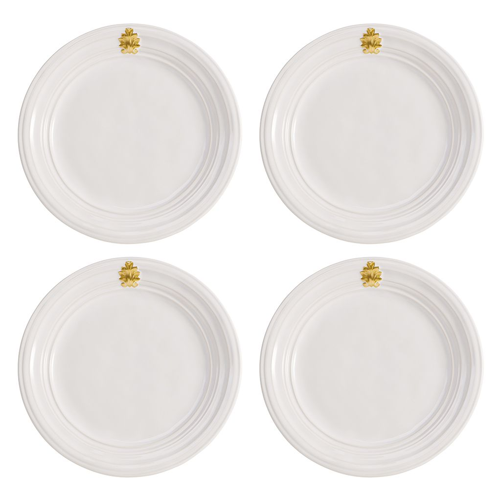 Acanthus Gold Dinner Plate Set (4)