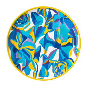 Blue Rose Melamine Dinner Plate Set (8)