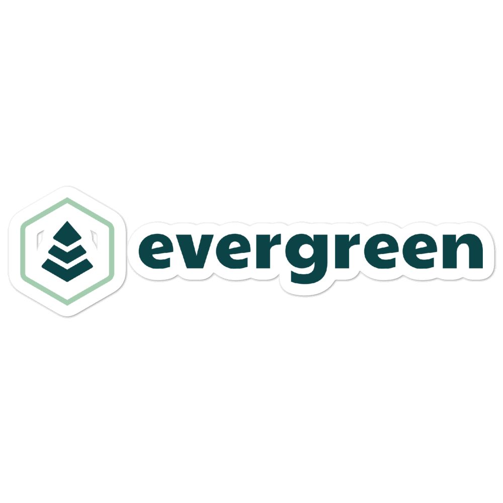 Evergreen Water Bottle Sticker - Evergreen