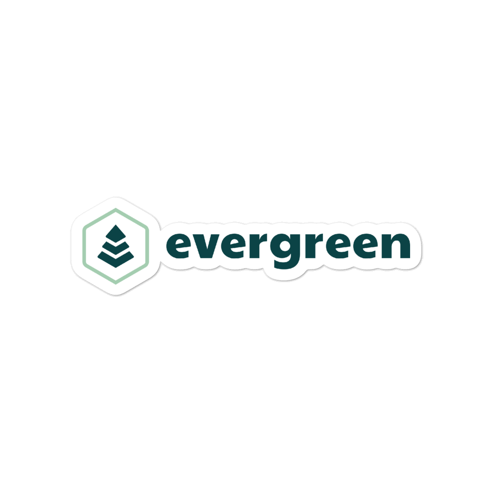 Evergreen Hydro Flask Sticker - Evergreen