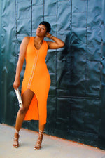 Load image into Gallery viewer, Criss Cross Slant | Orange Dress