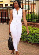 Load image into Gallery viewer, White Desi Denim | Jumpsuit