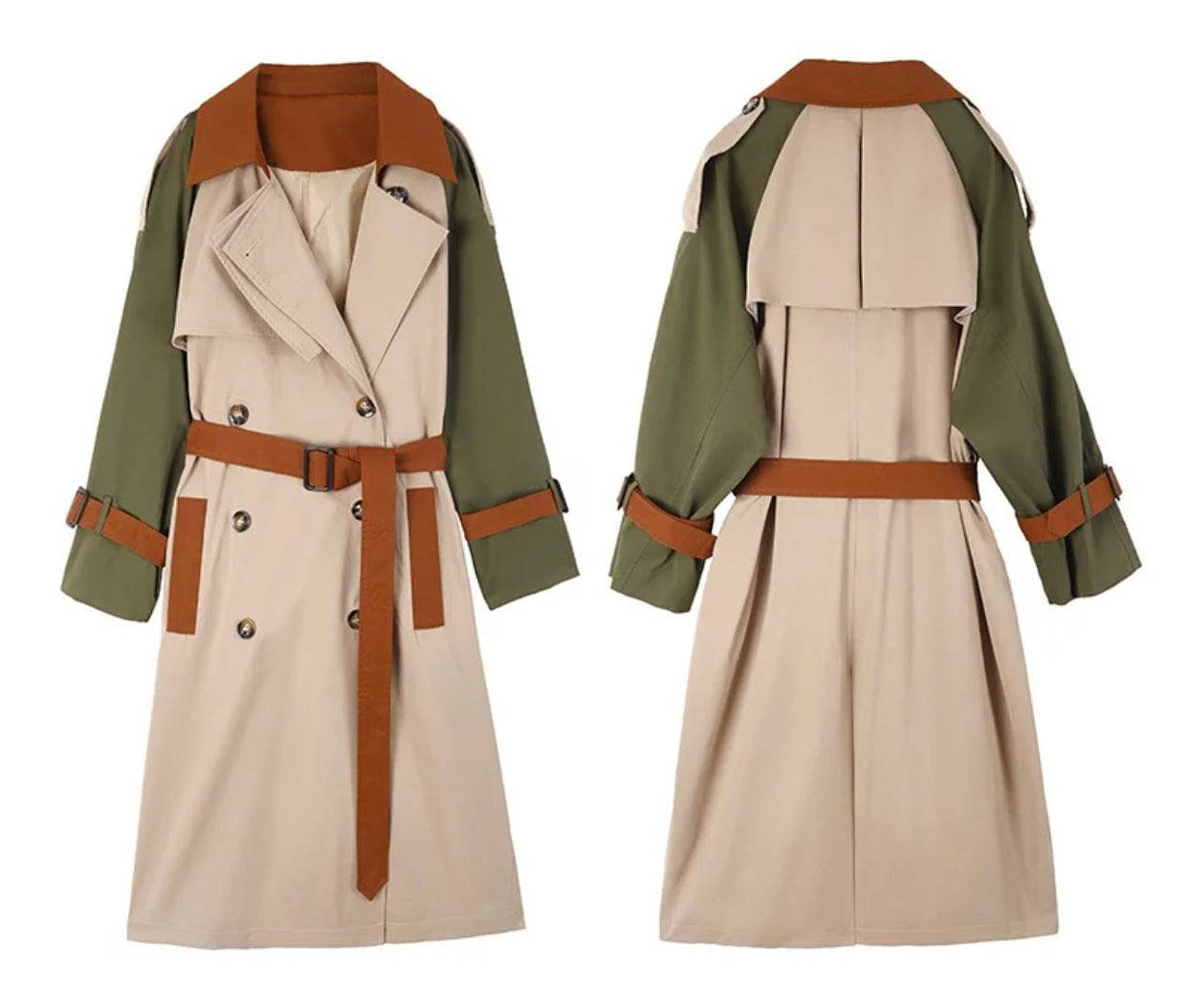 Autumn Multi Belted TrenchCoat