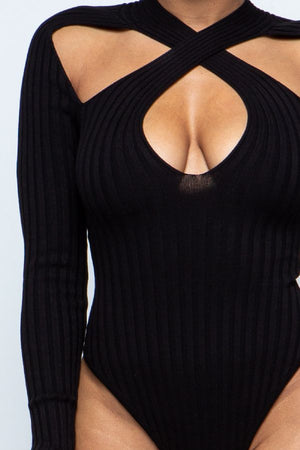 Black Criss Cross | Bodysuit (Pre-Order Ships May 5/10)