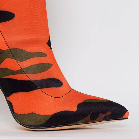 Orange Bossy Camo Booties